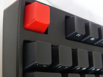 Keyboard with blank red button Royalty Free Stock Images