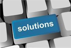 Keyboard - blue key Solutions royalty free illustration