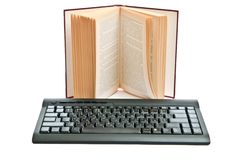 Keyboard and book Royalty Free Stock Images