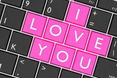 Keyboard built-in I Love You key Royalty Free Stock Photography