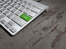 Keyboard button, chat on the web, Internet chat search Stock Photography