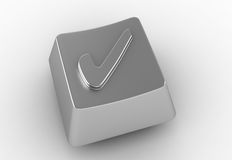 Keyboard button with check mark sign Stock Image