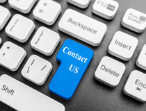 Keyboard button Contact us Royalty Free Stock Image