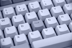 Keyboard Button Find Royalty Free Stock Images