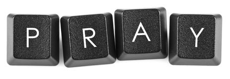 Keyboard button pray Stock Images