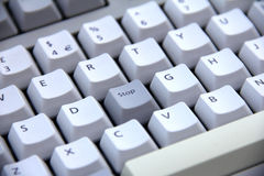 Keyboard Button Stop Royalty Free Stock Image
