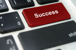 Keyboard button success Stock Images