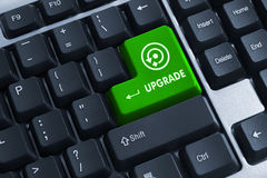 Keyboard button with upgrade caption Royalty Free Stock Images