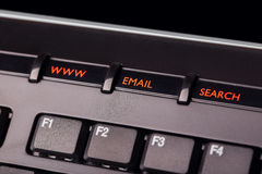 Keyboard buttons. Buttons www email search on keyboard Royalty Free Stock Image