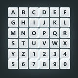 Keyboard buttons alphabet Royalty Free Stock Photo