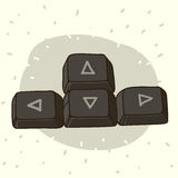 Keyboard buttons with arrows. Hand drawn illustration of dark keyboard buttons with arrows Royalty Free Stock Image