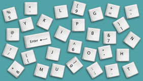 Keyboard buttons Stock Photography