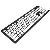 Keyboard, buttons, letters, numbers. 3D graphic. Keyboard is black with white buttons. Buttons with letters and numbers. 3D graphic object on white background Stock Photography