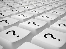 Keyboard buttons with question marks Stock Photos