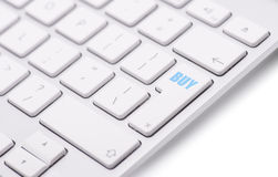 Keyboard with buy button Royalty Free Stock Photography