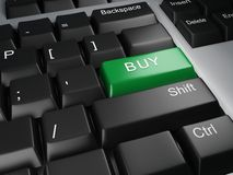 Keyboard buy button Royalty Free Stock Images