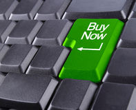 Keyboard buy now. Buy now icon on keyboard Royalty Free Stock Photos