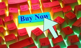 Keyboard-Buy Now Royalty Free Stock Photos