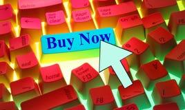 Keyboard-Buy Now Royalty Free Stock Photos