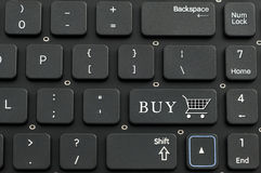 Keyboard and buy sign Stock Photo