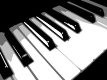 Keyboard bw. Black and white 4 tone keyboard Royalty Free Stock Photos