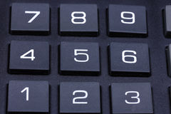 Keyboard of a calculator Royalty Free Stock Photos