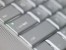 Keyboard - caps lock key royalty free stock image