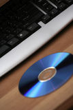 Keyboard and cd/dvd Stock Photography