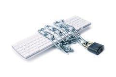 Keyboard  chain  lock Stock Photo