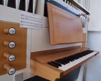 Keyboard from Church Organ. Small keyboard from handmade danish church organ Royalty Free Stock Photo