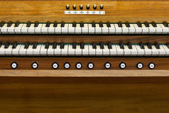 Keyboard church organ Royalty Free Stock Image