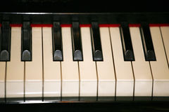 Keyboard of a classical old piano Stock Image