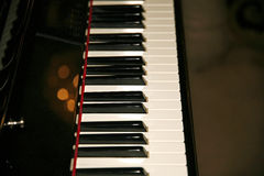 Keyboard of a classical old piano Royalty Free Stock Photo