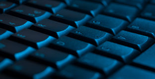 Keyboard close-up with copy space Royalty Free Stock Photo