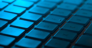 Keyboard close-up with copy space Royalty Free Stock Photos