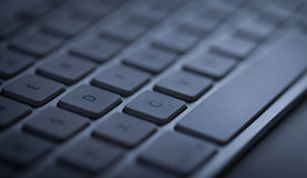 Keyboard close-up with copy space Royalty Free Stock Images