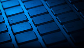 Keyboard close-up with copy space Stock Photography