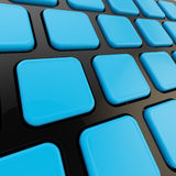 Keyboard close-up to empty copyspace keys Royalty Free Stock Photo