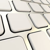 Keyboard close-up to empty copyspace keys Royalty Free Stock Image