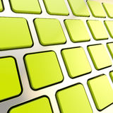 Keyboard close-up to empty copyspace keys Royalty Free Stock Images