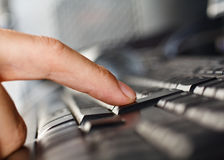 Keyboard closeup Stock Photos