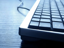 Keyboard closeup. PC keyboard closeup view Royalty Free Stock Photography
