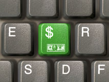 Keyboard (closeup) with Dollar key vector illustration
