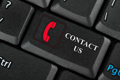 Keyboard. Closeup key Contact Us Stock Photos