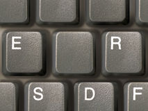 Keyboard (closeup) with one clean key. (jpeg contain clipping path for it Royalty Free Stock Photo
