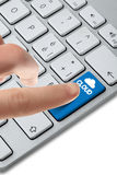 Keyboard_cloud_button_choise Royalty Free Stock Image