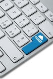 Keyboard_cloud_button_choise Royalty Free Stock Images