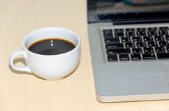Keyboard and coffee Royalty Free Stock Photography