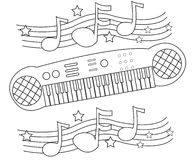 Keyboard coloring page Stock Photo