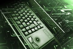 Keyboard from computer and binary stock photo